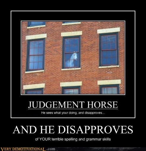 grammar,judgement,funny,horse