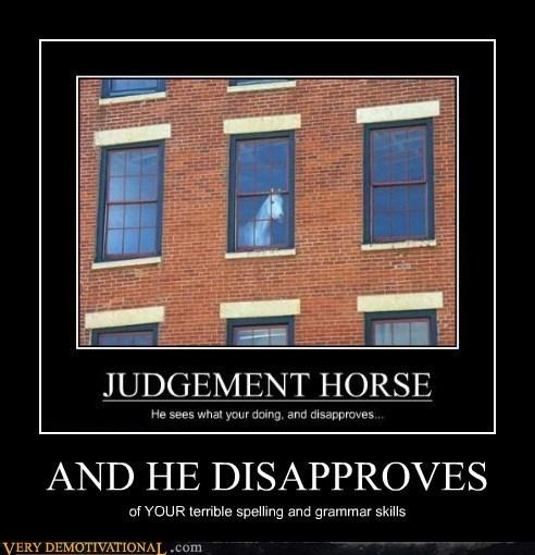 grammar judgement funny horse