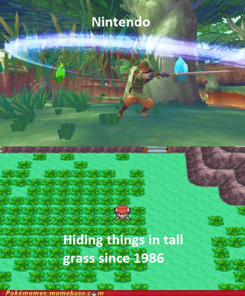 Pokémon tall grass zelda funny nintendo - 7504590080
