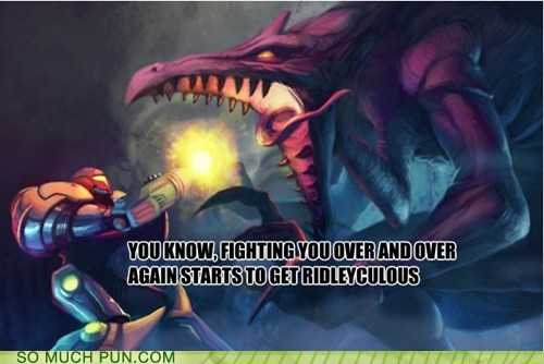 samus Metroid ridley puns video games funny - 7504811520
