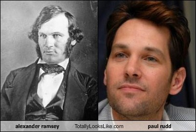 paul rudd totally looks like alexander ramsey funny