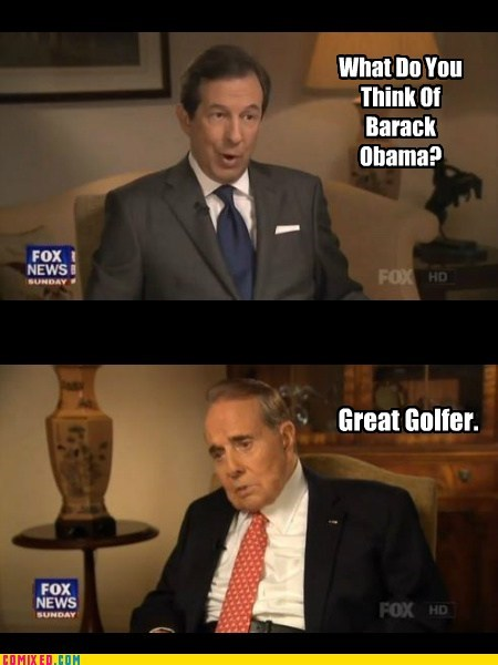 golf Bob Dole barack obama funny - 7505406720