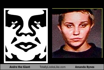Amanda Bynes andre the giant totally looks like funny