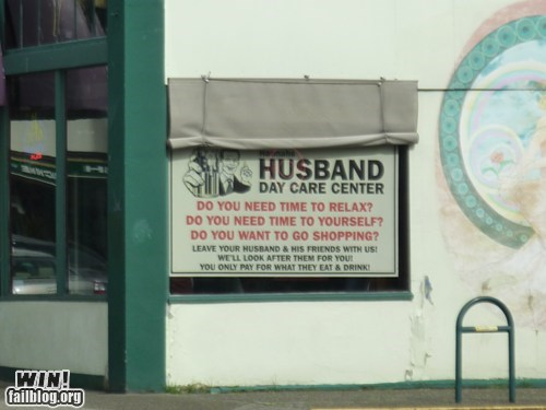 sign husband day care funny - 7505918720