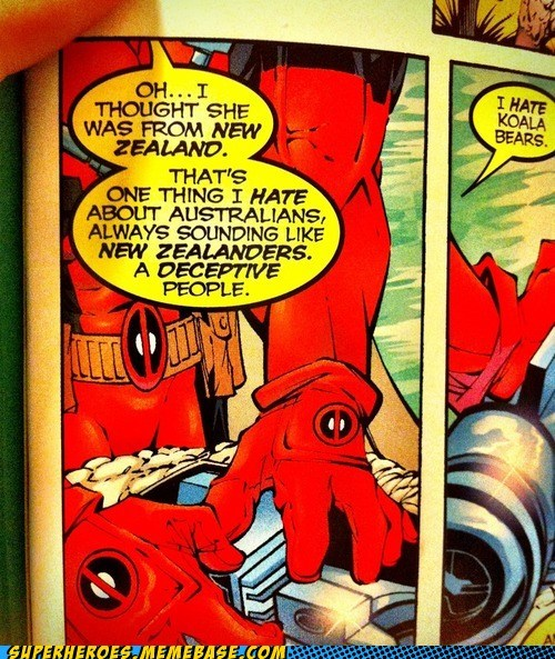 deadpool,new zealand,off the page,funny