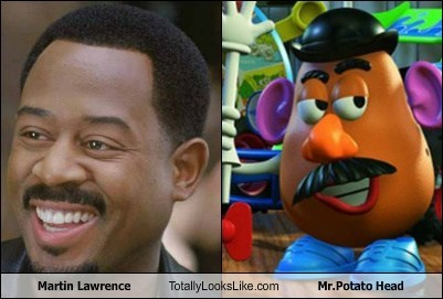 totally looks like,mustaches,mr potato head,martin lawrence,funny