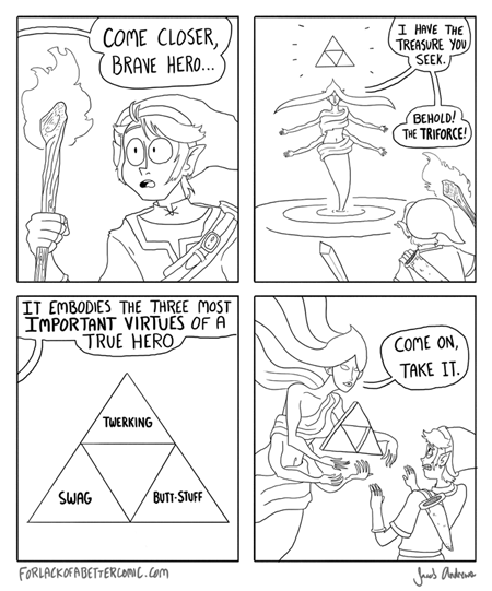 swag twerking butt stuff triforce for lack of a better comic jacob andrews webcomics - 7507340800