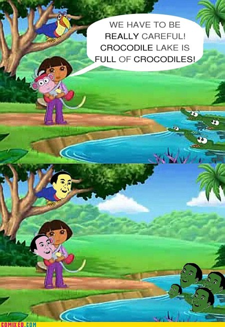 crocodiles you dont say dora the explorer funny - 7507380224
