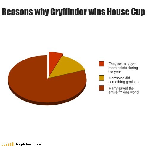 pie charts Harry Potter hermione granger house cup graphs gryffindor funny - 7507817472