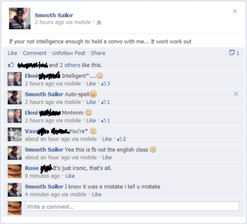 grammar intelligence tense failbook