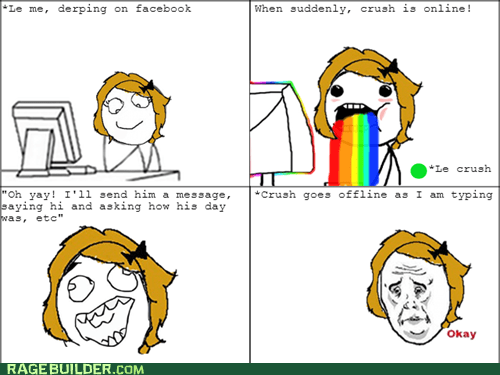 facebook chat,rainbow girl,relationships,facebook,Okay,crush