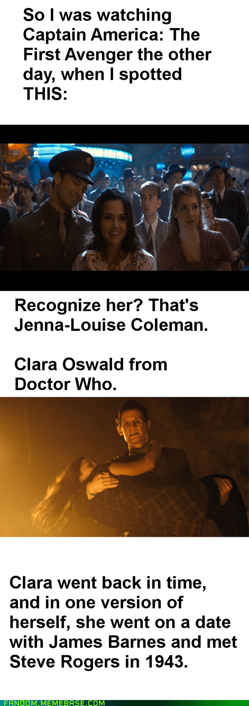clara oswin oswald,crossover,doctor who,captain america