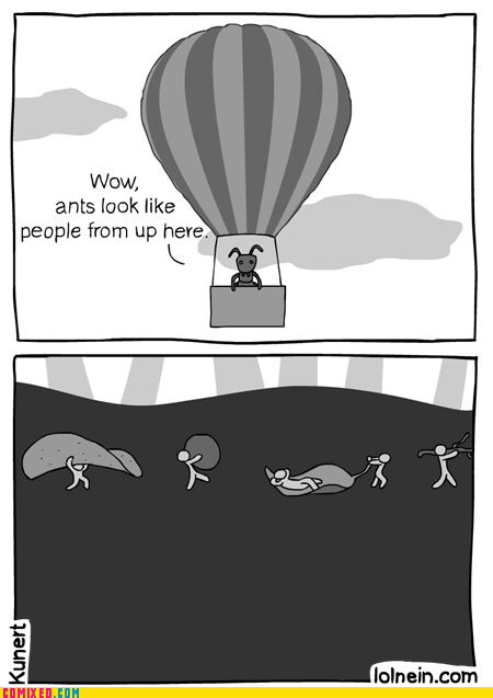 Hot Air Balloon,ants,funny,webcomics,balloon
