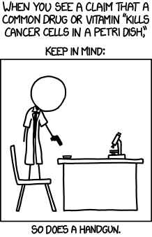 medicine xkcd cancer science funny - 7510227968