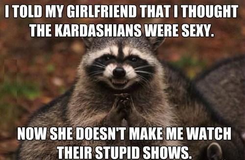 kardashians Memes evil plotting raccoon funny dating - 7510412032