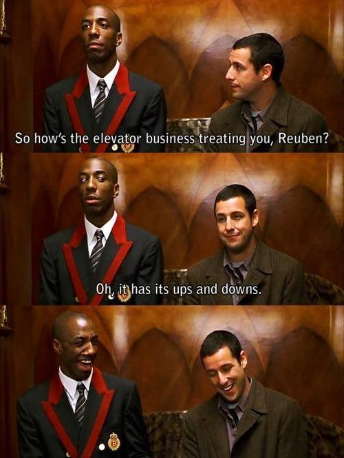 elevators puns adam sandler funny - 7510431744