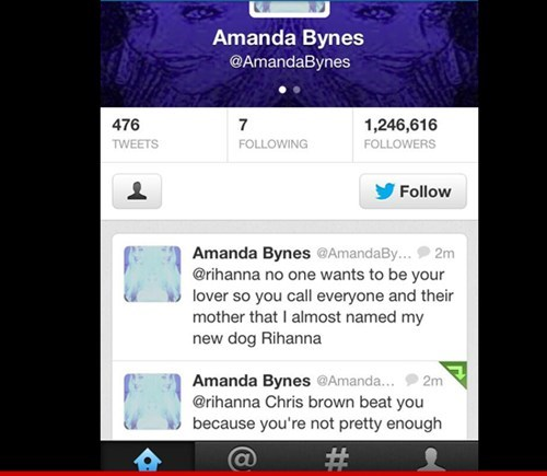 twitter Amanda Bynes chris brown rihanna tweets failbook - 7510572800