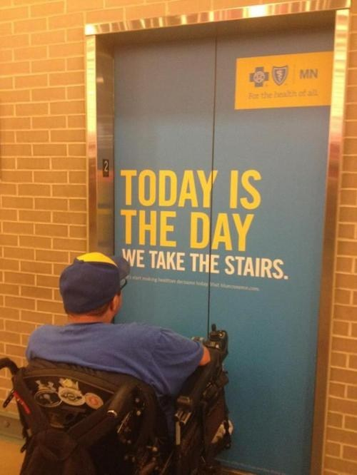 ouch,elevator,disabled,funny