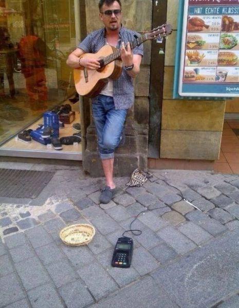ATM street performer panhandler funny - 7510746624