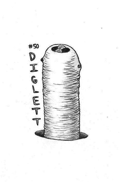 art diglett wednesday diglett drawings funny - 7510807296