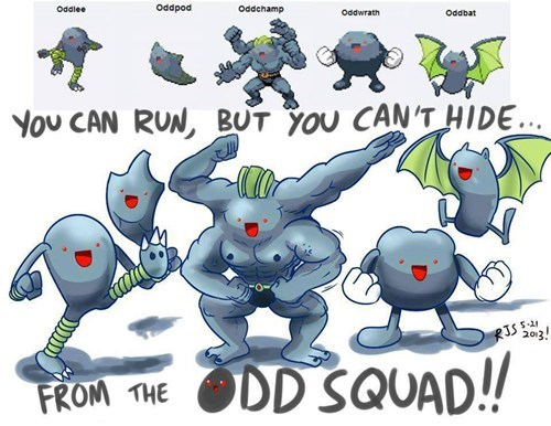 wtf pokemon fusions oddish funny - 7511119360