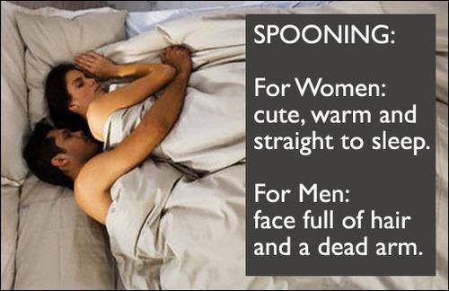 spooning,funny,men vs women