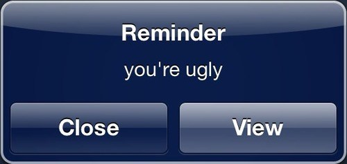 youre-ugly reminder funny