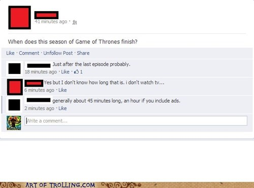 Game of Thrones facebook funny - 7511813632