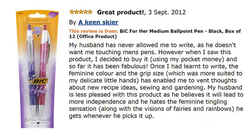 funny and weird amazon reviews
