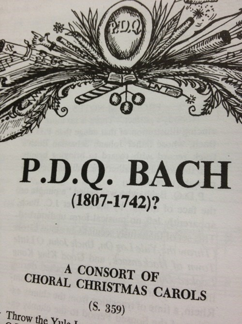 Music sheet music Bach funny - 7514386944