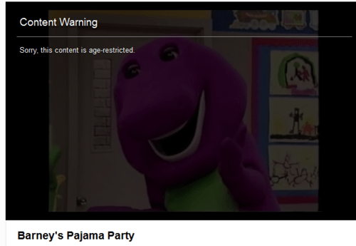 content warning youtube barney funny - 7514498816