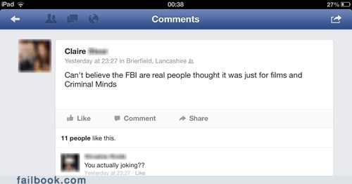 FBI criminal minds funny failbook