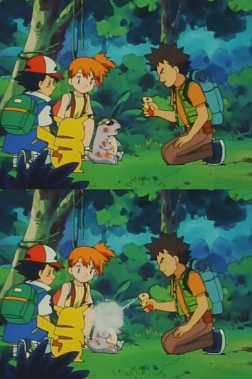 brock,wtf,anime,pepper spray,funny