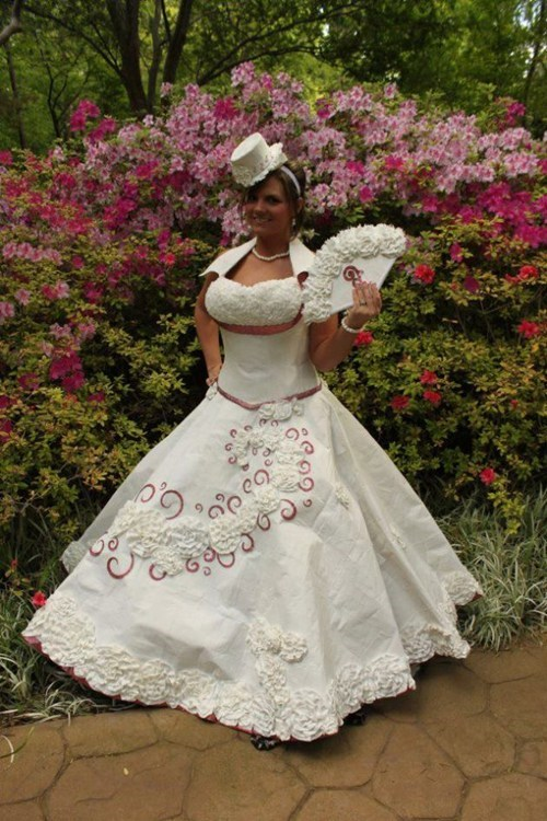 toilet paper wedding dresses brides funny