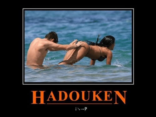 hadouken,beach,Street fighter,funny
