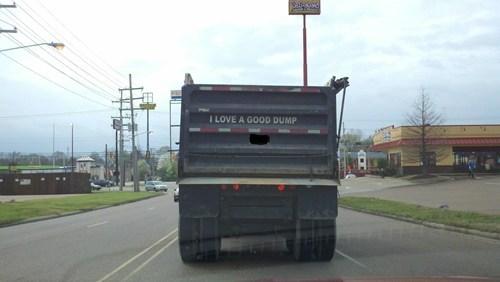 dump puns truck funny win