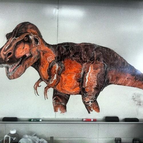 whiteboard dinosaur funny - 7515489280