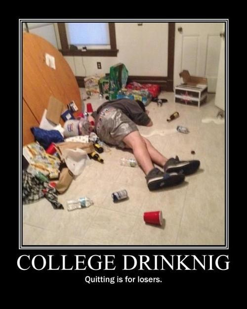 passed out,funny,college,quitting