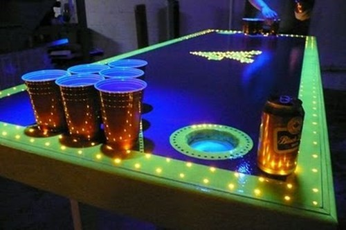 lights table design beer pong funny - 7515600640
