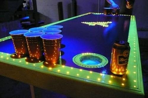 lights table design beer pong funny - 7515600640