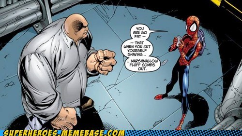 Spider-Man kingpin off the page fat jokes funny - 7515750144