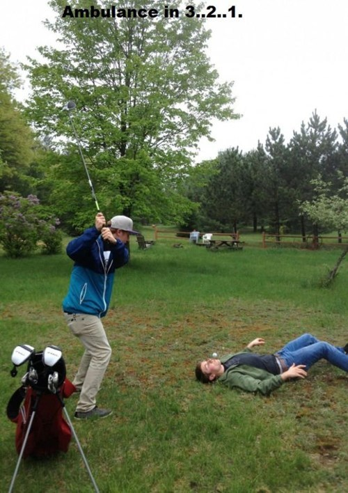 ouch what-could-go-wrong sports golf funny - 7515899904