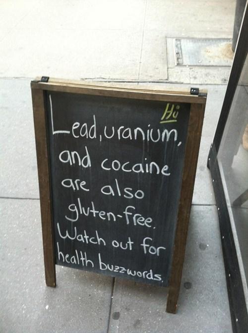 buzzwords uranium gluten free funny - 7516086784