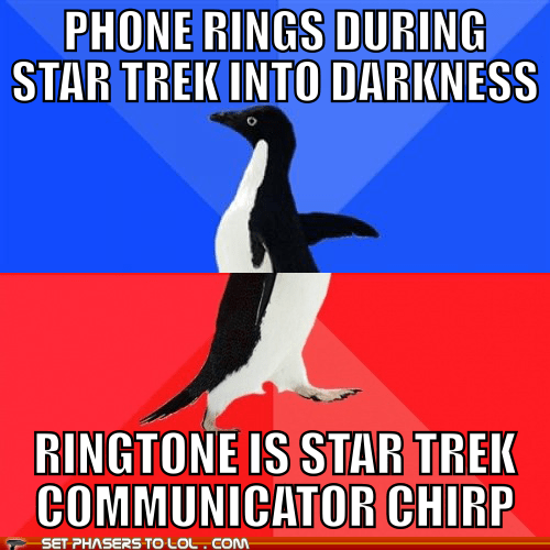 ringtones cell phones socially awkward awesome penguin Star Trek - 7516174336