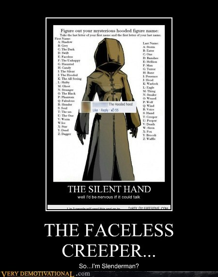 hood,mysterious,figure,funny,slenderman