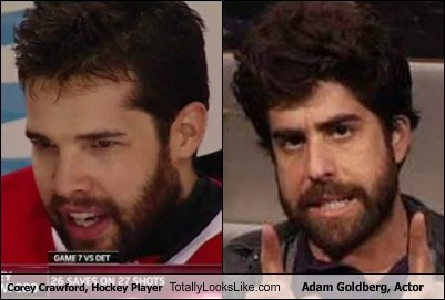 Corey Crawford, Hockey Player Totally Looks Like Adam Goldberg, Actor