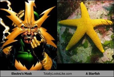 starfish,electro,superheroes