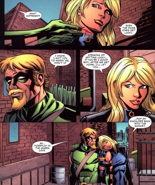 Black Canary,off the page,green arrow,funny