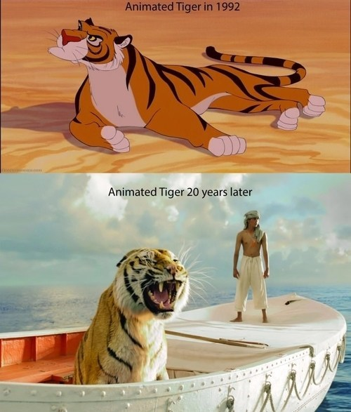 disney tigers animation aladdin the life of pi - 7518074624