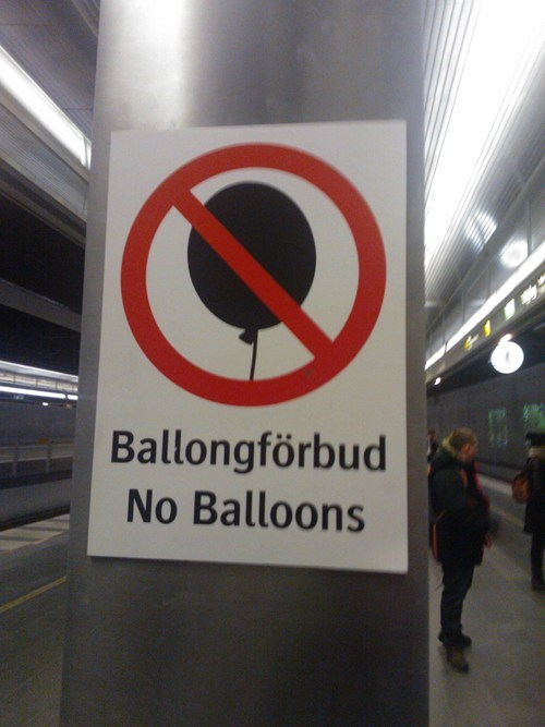 no balloons Balloons Sweden swedish happiness monday thru friday g rated - 7518257152
